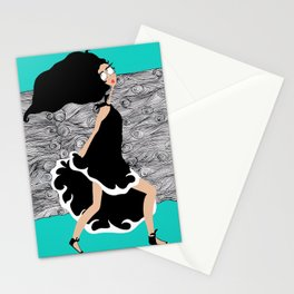 Run Earthling Run Stationery Cards