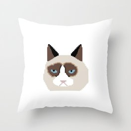 Tar Dar Cat Throw Pillow