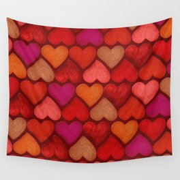 Love Pattern Wall Tapestry