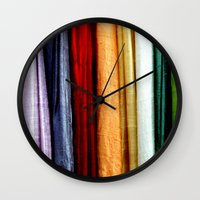 striped Wall Clocks featuring Striped by Anne Seltmann
