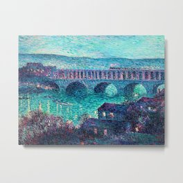 Classical Masterpiece: The Auteuil Viaduct by Maximilian Luce Metal Print