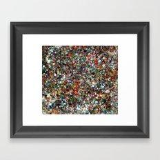 Sequin Spill Framed Art Print