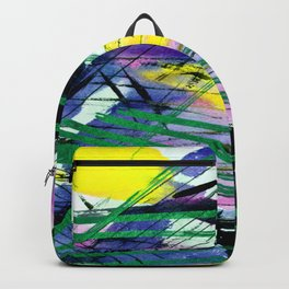 Abstract Joy 3C by Kathy Morton Stanion Backpack