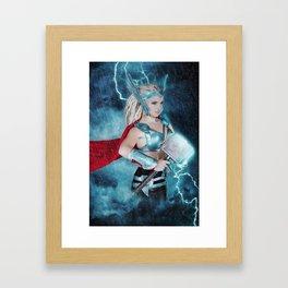 Female Thor Framed Art Print