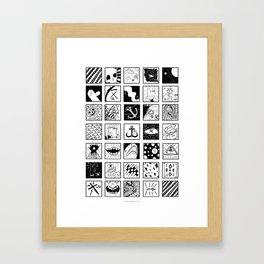 Stuff And Stuff Framed Art Print