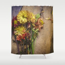 Rustic Flowers (Color) Shower Curtain