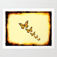 Rustic Butterflies Art Print
