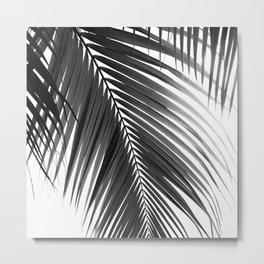 Palm Leaves Black & White Vibes #5a #tropical #decor #art #society6 Metal Print