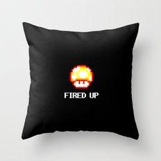 FIRED UP Throw Pillow