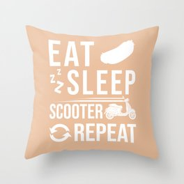 Moped Scooter Gift Motor Rider Throw Pillow