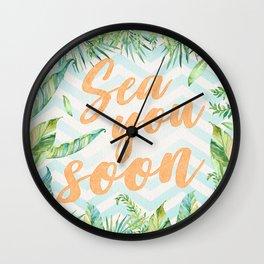 Sea You Soon Wall Clock