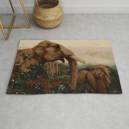"""Kala Nag from Kipling's """"Toomai of the Elephants"""" Rug"""