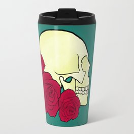 Skull and Roses Travel Mug