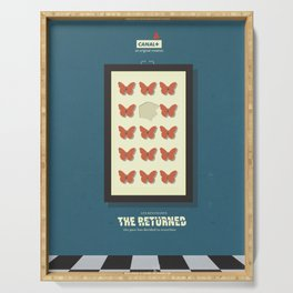 The Returned, french tv series, minimalist, alternative poster, Canal+ Serving Tray