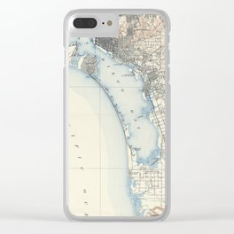 Vintage Map of San Diego California (1902) Clear iPhone Case
