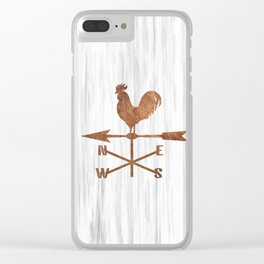 Rustic Weather Vane  (Brown) Clear iPhone Case