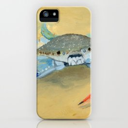 Blue Crab Art By Daniel MacGregor iPhone Case