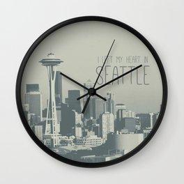 I LEFT MY HEART IN SEATTLE Wall Clock