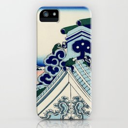 "Hokusai (1760-1849) ""Asakusa Hongan-ji temple in the Eastern capital [Edo]"" iPhone Case"