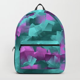 little sqares and rectangles pattern -5- Backpack