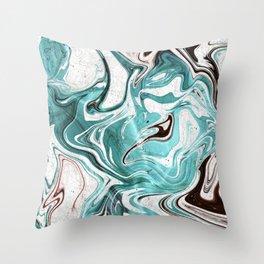 Marble Glitch 3 Throw Pillow