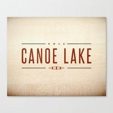 CANOE LAKE Canvas Print