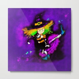 Dancing witch Metal Print
