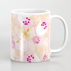 Flowers and dragonfly on blush Mug