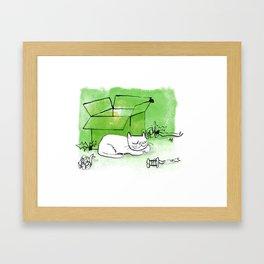Boxing Day Cat Framed Art Print