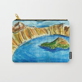 Crater Lake National Park - Oregon Travel Poster Carry-All Pouch
