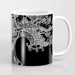 Unity of Halves - Life Tree - Rebirth - White Black Coffee Mug