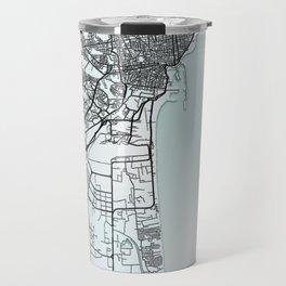Catania, Italy, White, City, Map Travel Mug