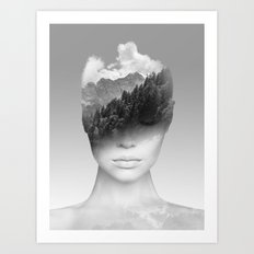 Becoming one with Nature Art Print