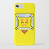 transformers iPhone & iPod Cases featuring Transformers - Bumblebee by CaptainLaserBeam