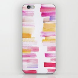 8 | 181101 Watercolour Palette Abstract Art | Lines | Stripes | iPhone Skin