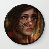 ellie goulding Wall Clocks featuring Ellie by Nicole M Ales