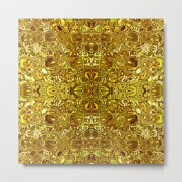 Sparkling gold glass mosaic Metal Print