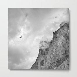 Eagle. Misty Mountains. Grindelwald Valley. Alps. Switzerland Metal Print