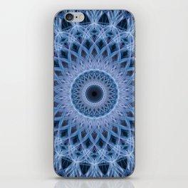 Light blue mandala iPhone Skin