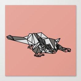Geometric Sugar Glider Canvas Print