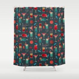 Retro Cocktails Shower Curtain