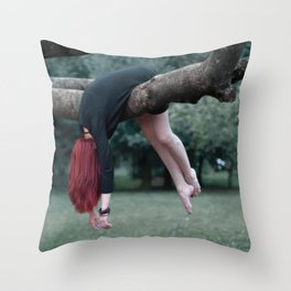 redhead girl Throw Pillow