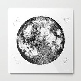 Negative Full Moon Print, by Christy Nyboer Metal Print