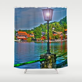 Lantern at the Lake Schliersee Shower Curtain