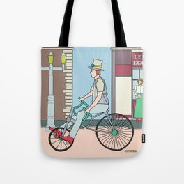 Steampunk Stovepipe Hat Biker Tote Bag
