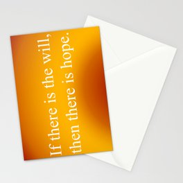 If There Is Will Stationery Cards