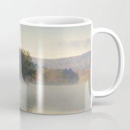 Misty Lake Sunrise Coffee Mug