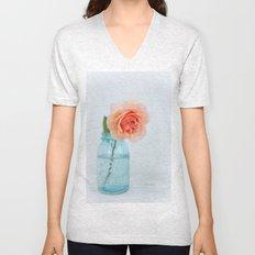 Rose in a Jar Unisex V-Neck
