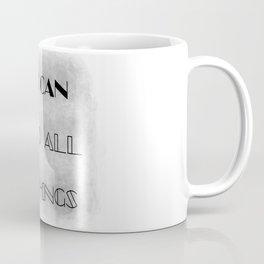 I Can [do all things] (black/grey) Coffee Mug