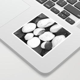 Zen White Stones On A Black Background #decor #society6 #buyart Sticker